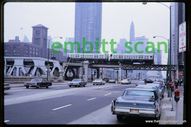 6000s cross the Chicago River in 1968. We are looking east.