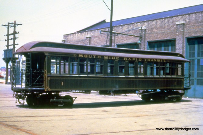 South Side Rapid Transit car #1 in 1962. It is now at the Chicago History Museum.