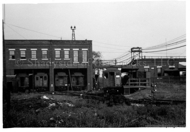 """The CRT Laramie Shops, adjacent to the ground-level """"L"""" station. We are looking east."""