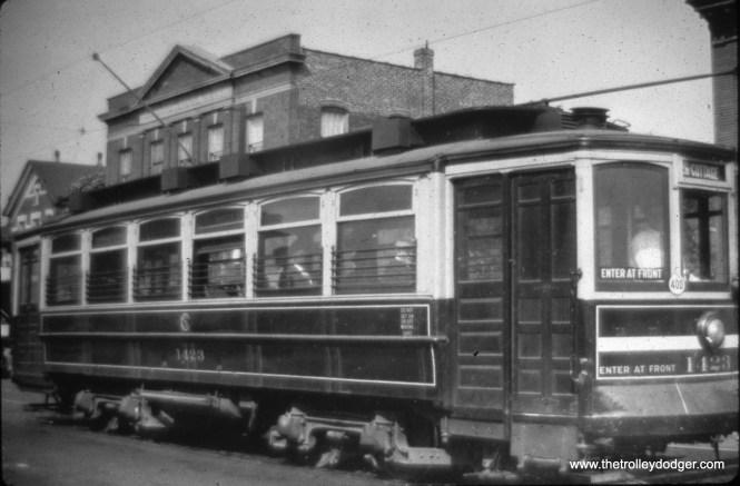 CSL 1423 on 26th Street on September 27, 1946. (Gordon E. Lloyd Photo)