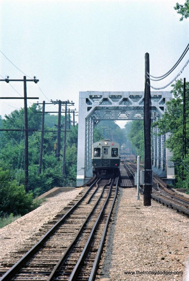 CTA 1-50 series Evanston Central Street station 7-1981