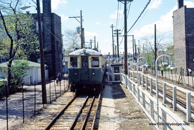 CTA 4000 series fan trip Kedzie Station 4-1973