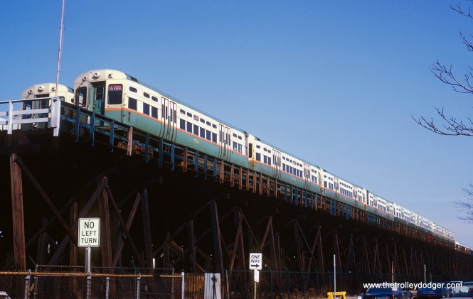 "CTA L cars in storage at Logan Square terminal, Chicago, IL on April 5, 1969. Sean Hunnicutt adds, ""6629-30 on the outside corner. Funny note about this: my ex-girlfriend was born in Manila on this day."""