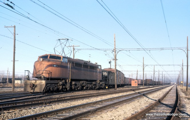 CSS&SB 801 in Hegewisch (Burnham Yard) in Chicago on January 27, 1964.