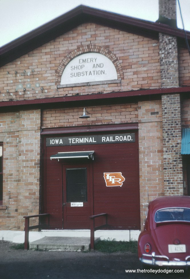 Iowa Terminal Railroad shops and substation at Emery Photograph taken by Roger Puta the weekend of August 12th and 13th, 1967 in Iowa.