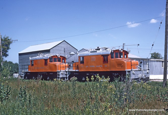 Roger Puta took these August 12 and 13 of 1967. Freight Motors 80 and 81 at the shops, Emery, IA