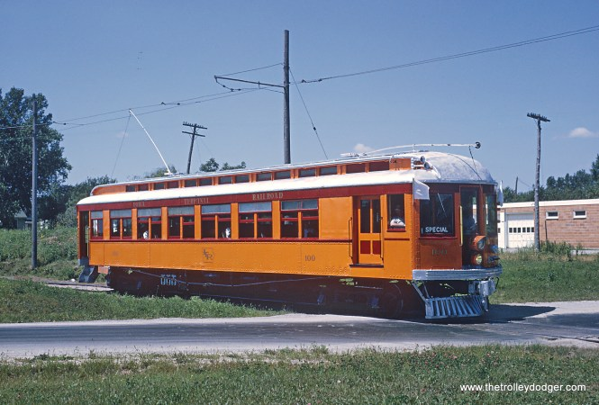 Iowa Terminal Railroad Car 100 on MILW interchange tracks Mason City Photograph taken by Roger Puta the weekend of August 12th and 13th, 1967 in Iowa.