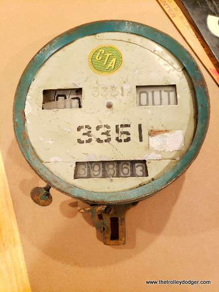 A fare counter from a Chicago streetcar. There was a Chicago streetcar 3351, a Peter Witt that was scrapped around 1952, but I am not certain that these didn't have their own numbers.