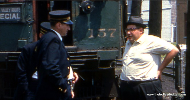 A close-up of Maury Klebolt (1930-1988). Not sure who is at left.