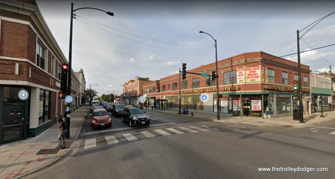 The same location today, looking north on Kedzie at 63rd Street.