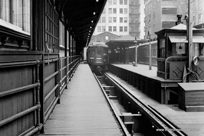 The CA&E Wells Terminal north track, looking east. (Jack Bejna Collection)
