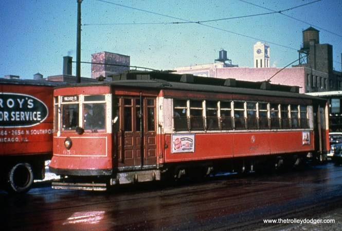 CTA 653, signed to head south on Route 8 - Halsted. (William Shapotkin Collection)