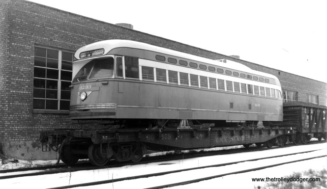 Postwar PCC 4233 being delivered from Pullman.