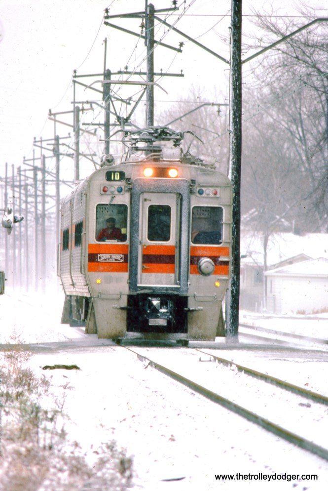 South Shore Line 10 in December 1983. (Gregory Markey Photo)