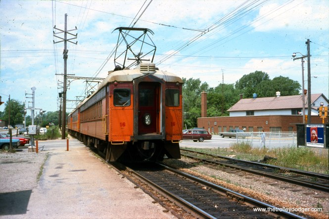 South Shore Line car 16 in July 1977.