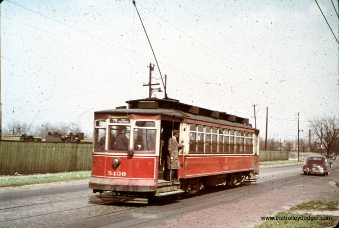 CTA 5436 at 79th and Perry in March 1950.