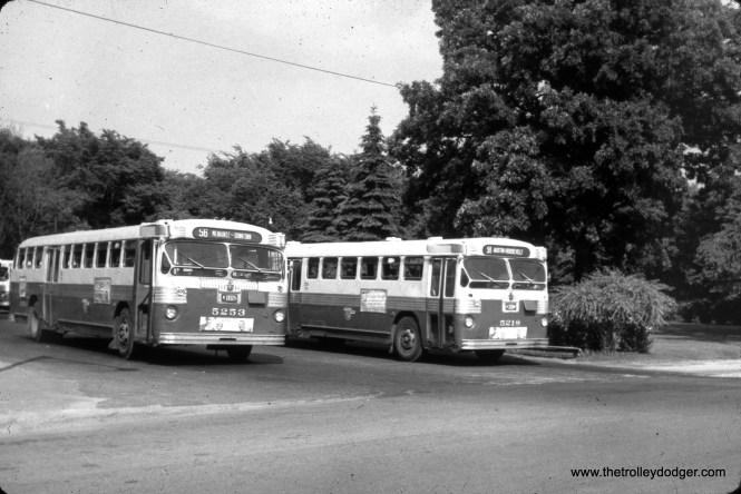 CTA buses 5253 and 5218 at the Imlay loop.