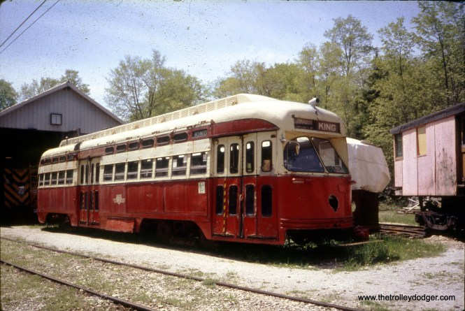 This is a former Toronto PCC streetcar, but I have no other information about the picture.