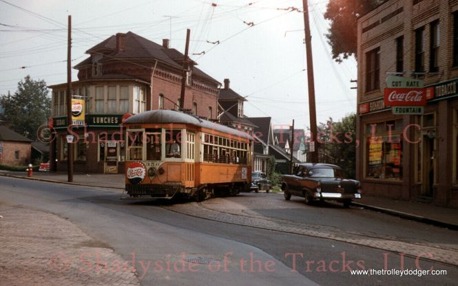 Another slide I did not win... this one has a real small town feel. Johnstown Traction Electric Streetcar #356 Original Kodachrome Slide Processed by Kodak Oakhurst, Pennsylvania 27 July 1958 Photographer Credit: William D. Volkmer Bob Bresse-Rodenkirk adds: