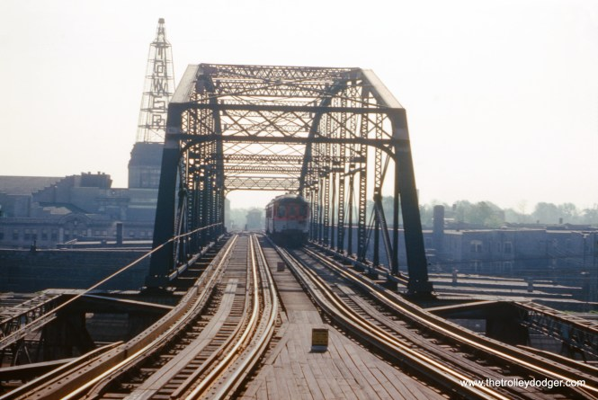 """The """"L"""" and bridge on this portion of the Jackson Park branch has since been cut back to Cottage Grove. (William C. Hoffman Photo)"""