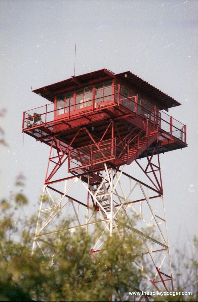 Fire tower of some BWI tower (I don't know which) on the glide path to BWI at Stoney Run