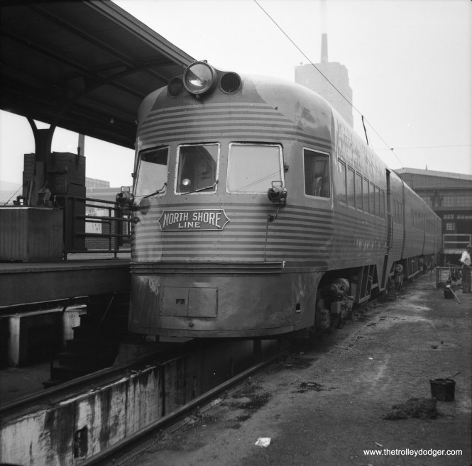 An Electroliner at the Milwaukee Terminal, possibly circa 1942-46.