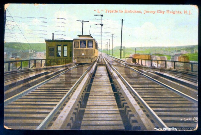 """This postcard (with a 1910 postmark) shows that the use of """"L"""" for elevated railway was not confined exclusively to Chicago."""