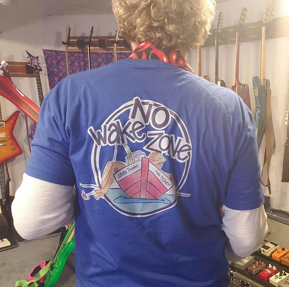 Johnny Russler / Mike McEnery No Wake Zone Unisex Tee, The Troprock Shop
