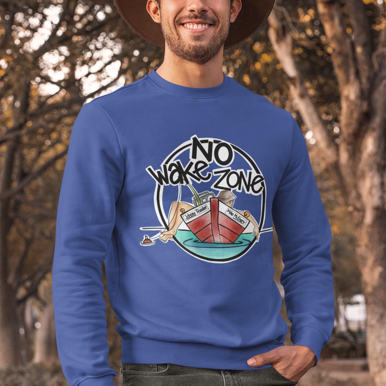 Johnny Russler / Mike McEnery No Wake Zone Crewneck Sweatshirt, The Troprock Shop