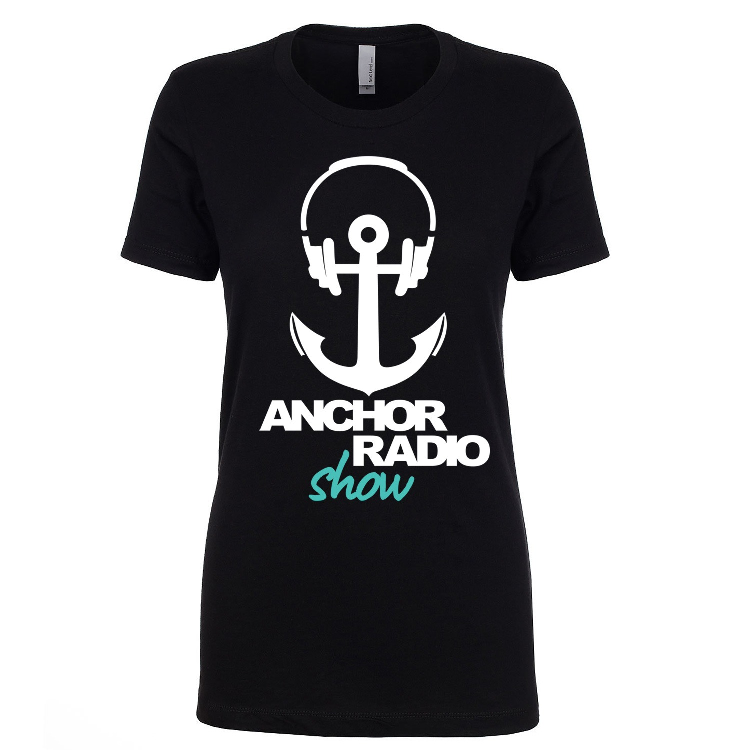 Anchor Radio Show Large Anchor Ladies Fitted Tee, The Troprock Shop