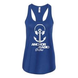 Anchor Radio Logo Ladies Racerback Tank, The Troprock Shop
