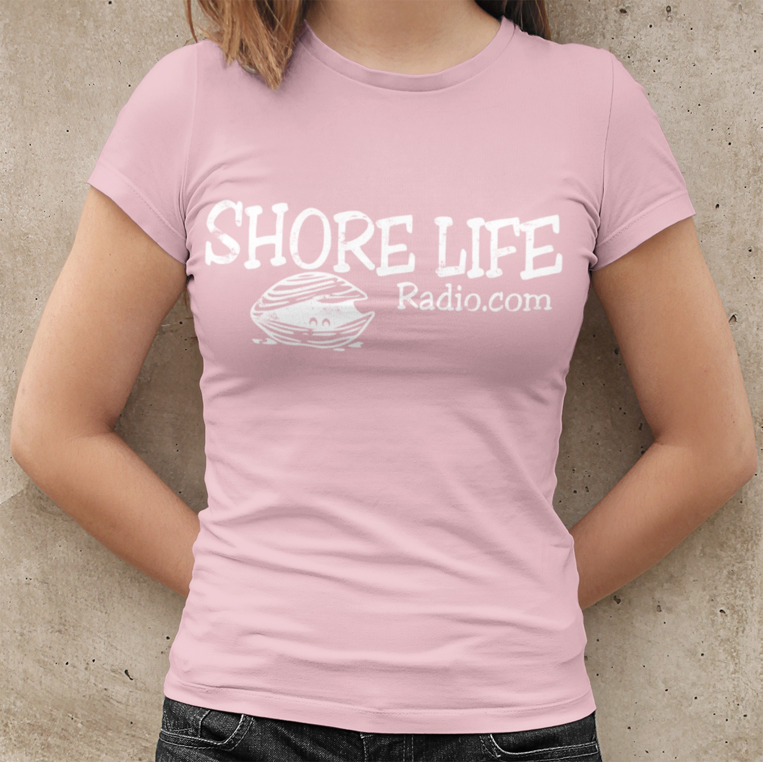 Shore Life Radio Clam Women's Fitted T-Shirt, The Troprock Shop