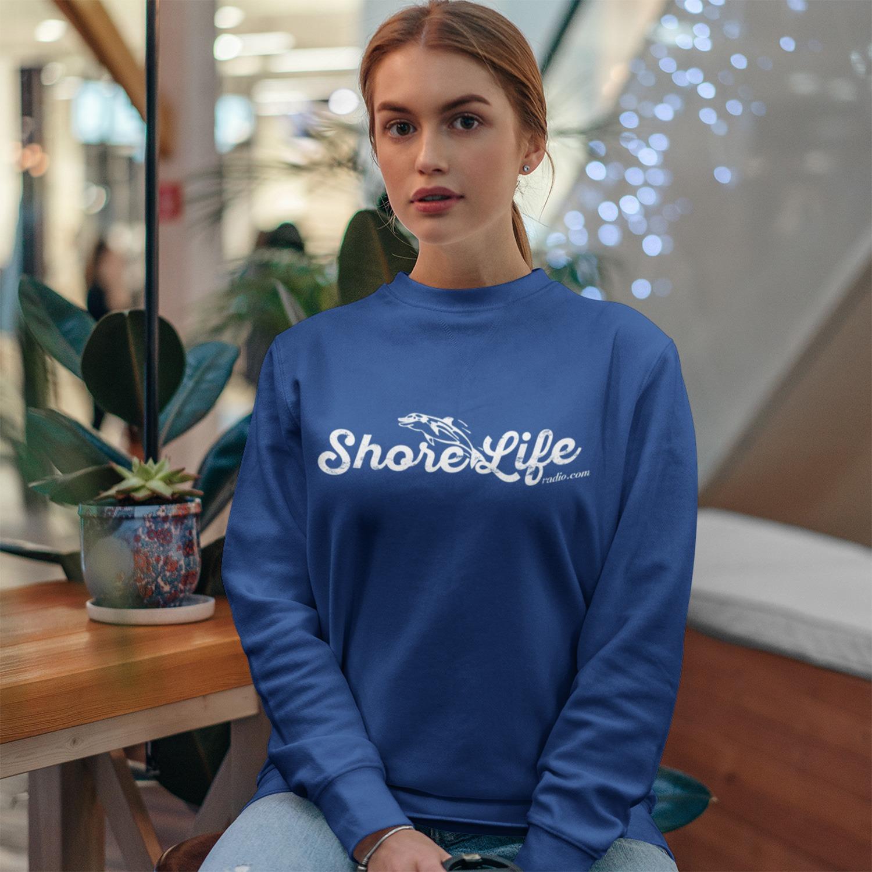 Shore Life Radio Dolphin Logo Unisex Sweatshirt, The Troprock Shop