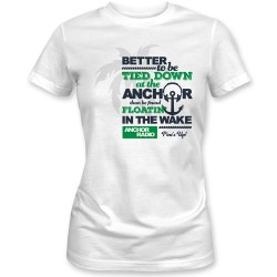 Anchor Radio Show Tied Down Ladies Fitted Tee, The Troprock Shop