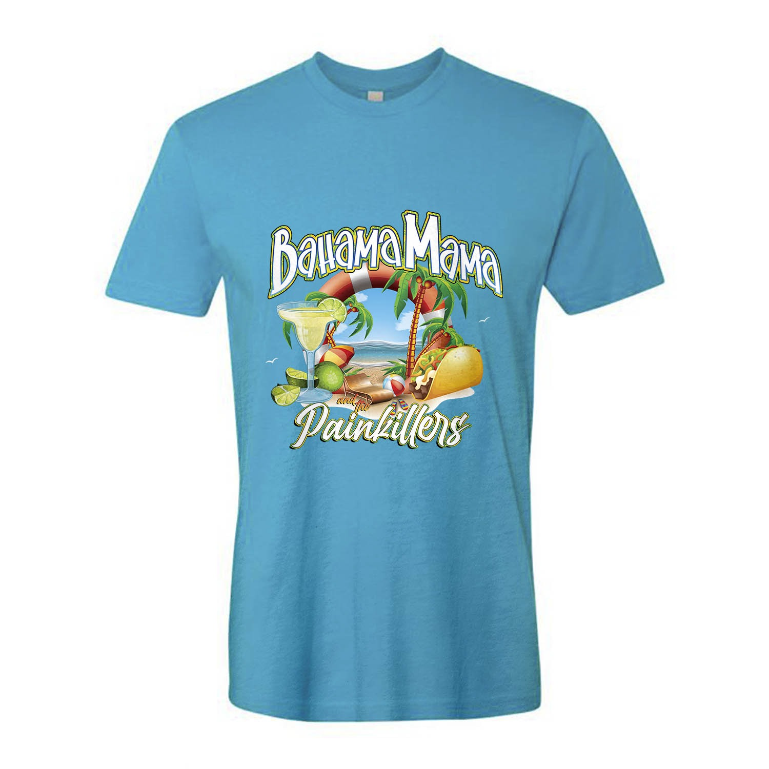 Bahama Mama and the Painkillers Double T Unisex Tee, The Troprock Shop