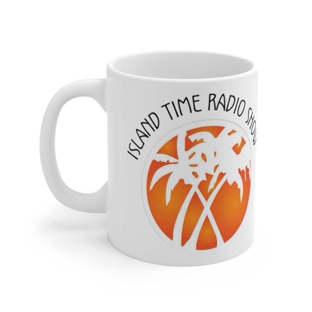 Island time Radio Show Ceramic Mug 11oz, The Troprock Shop