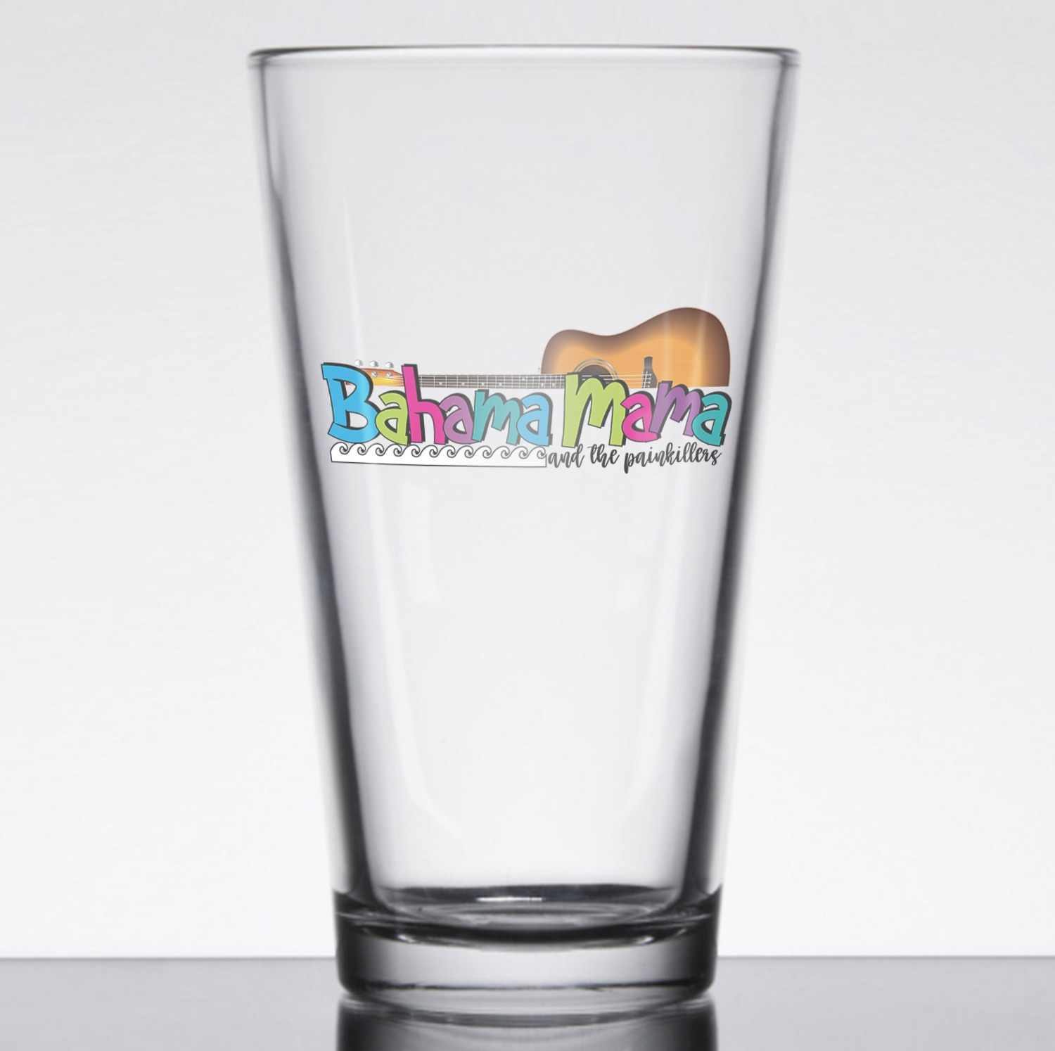 Bahama Mama and the Painkillers Pint Glass, The Troprock Shop