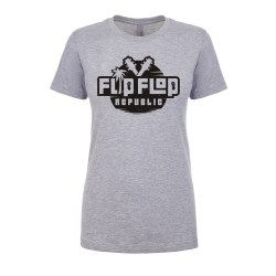 Flip Flop Republic Blackout Women's Fitted Tee, The Troprock Shop
