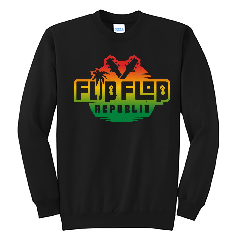 Flip Flop Repupublic Logo Unisex Sweatshirt, The Troprock Shop