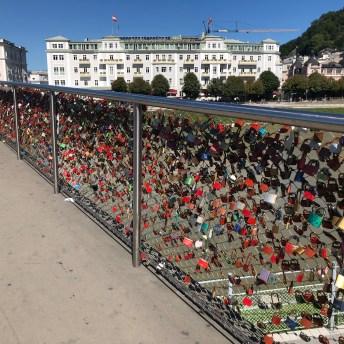 Love Lock Bridge in Salzburg