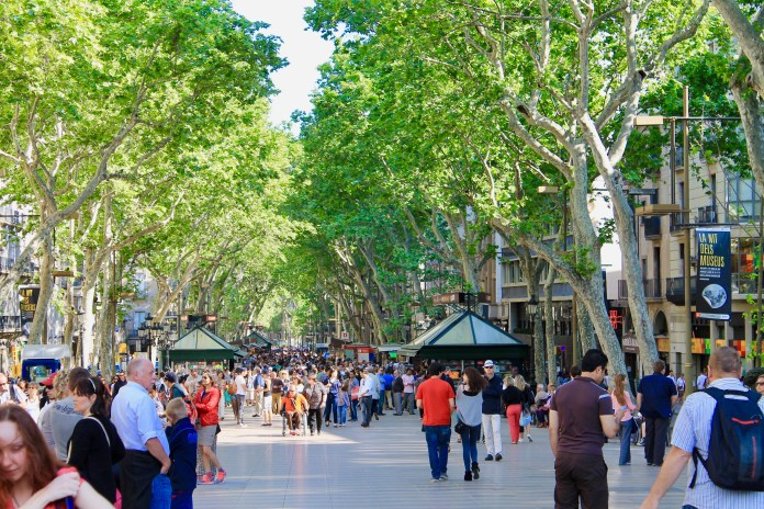 las ramblas Barcelona - City break