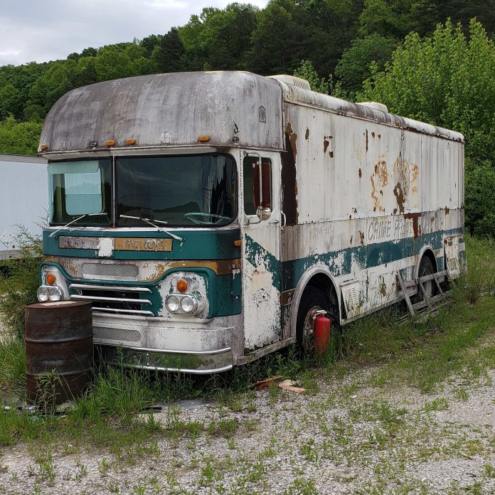 Antique bus camper.