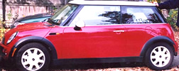 Image of Ray Gricar's red Mini Cooper