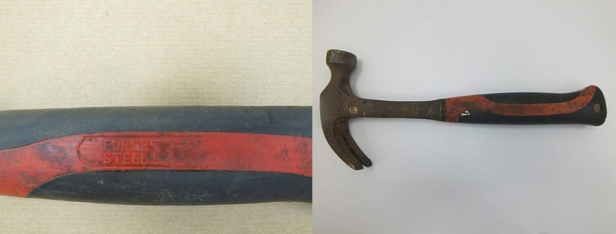 Image of claw hammer, the murder weapon used in the Valerie Graves murder.