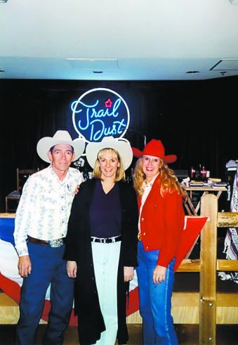 Bill Polhemus, left, Teri Jo Silbert, center, and Kathleen Logar, right, when birth parents and daughter reunited in Spring 2002