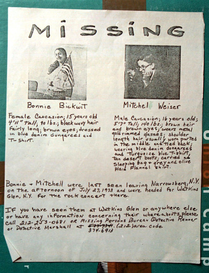 Missing Persons Mitch Weiser and Bonnie Bickwit