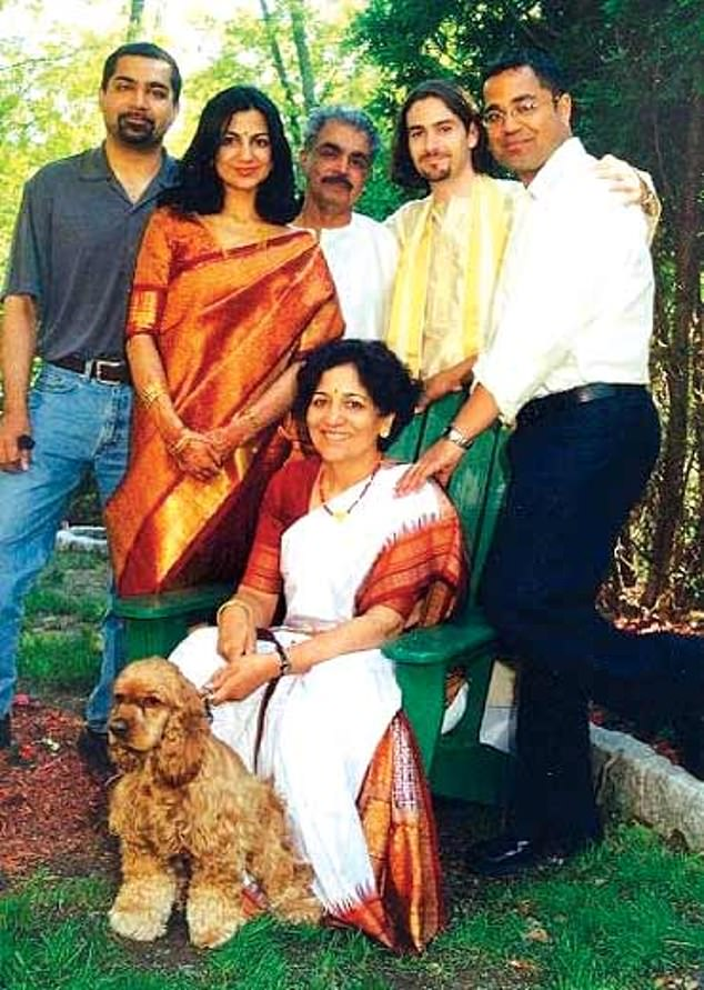 Sneha Philip with her husband and family