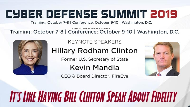 Hillary Clinton Chosen As The Keynote Speaker At Cyber Defense Summit 2019 IT'S REAL NEWS!