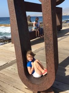 Sculptures, Playa de las Americas boardwalk