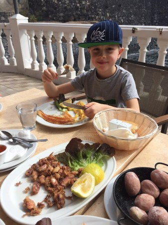 Seafood lunch, La Caleta